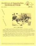 Archives of Appalachia Newsletter (vol. 5, no. 4, 1984)