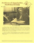 Archives of Appalachia Newsletter (vol. 6, no. 1, 1984)