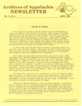 Archives of Appalachia Newsletter (vol. 6, no. 2, 1985) by East Tennessee State University. Archives of Appalachia.