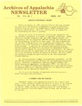 Archives of Appalachia Newsletter (vol. 8, no. 2, 1987)