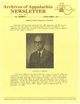 Archives of Appalachia Newsletter (vol. 8, no. 3, 1987) by East Tennessee State University. Archives of Appalachia.