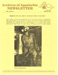 Archives of Appalachia Newsletter (vol. 9, no. 2, 1988) by East Tennessee State University. Archives of Appalachia.
