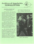 Archives of Appalachia Newsletter (vol. 11, no. 2, 1990)