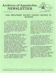 Archives of Appalachia Newsletter (vol. 11, no. 3, 1990)