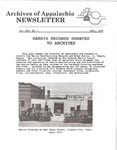Archives of Appalachia Newsletter (vol. 14, no. 1, 1992) by East Tennessee State University. Archives of Appalachia.