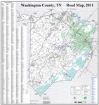 Washington County, Tennessee Road Map - 2011 by Johnson City GIS Division